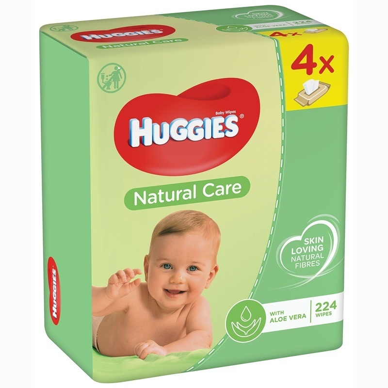 Huggies Natural Care quatro popsitörlő